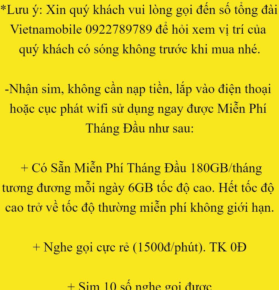 [FREESHIP] Siêu Thánh Sim 4G Mới Vietnamobile - Miễn Phí 180GB Tháng - Miễn Phí Tháng Đầu - Nghe Gọi Cực Rẻ - Phí Gia Hạn 45.000đ tháng - Shop Lotus Sim Giá Rẻ 1