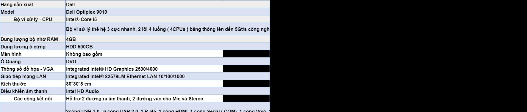 Máy tính đồng bộ Dell Optiplex 9010 SFF Core i5 RAM 4GB HDD 500GB - Hàng  nhập khẩu | Lazada.vn