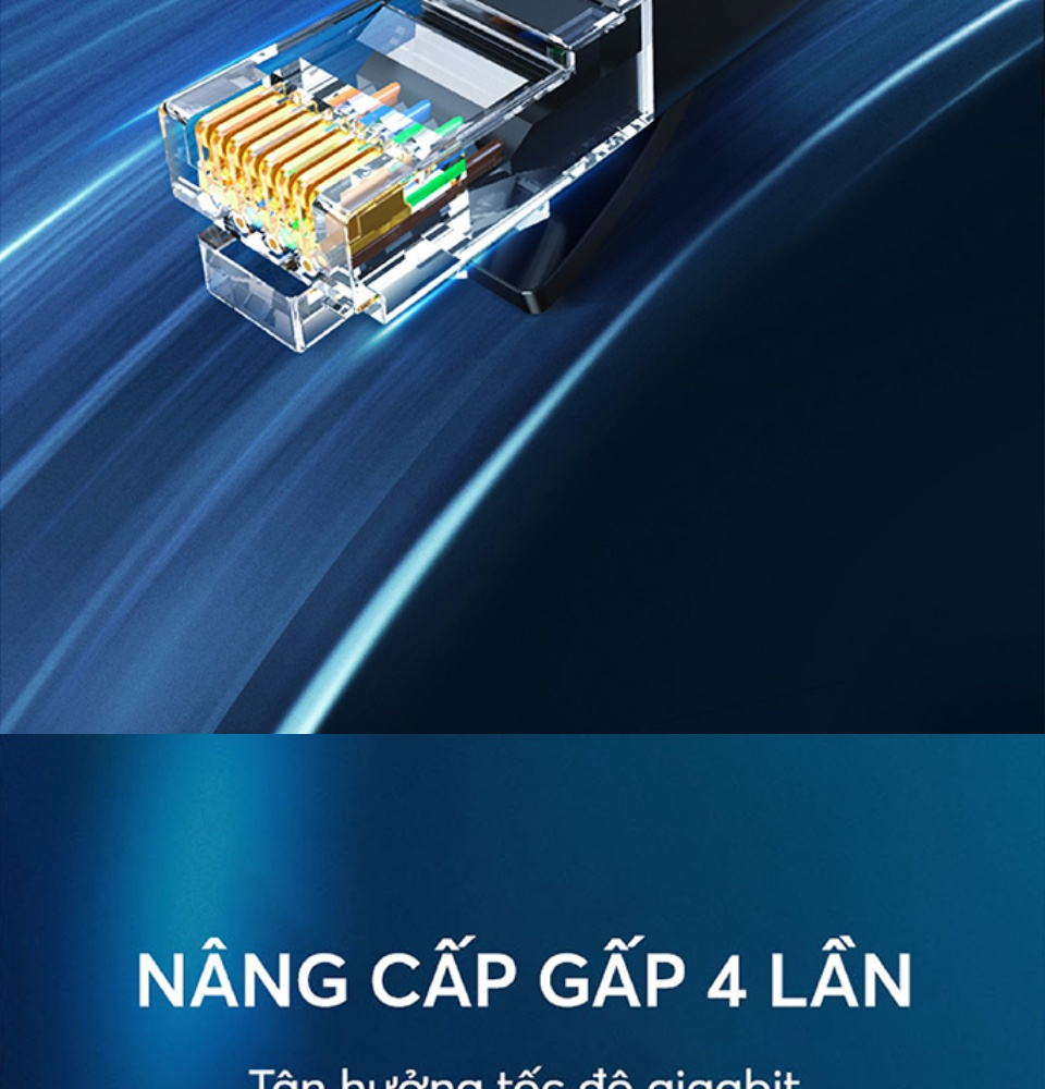 Cáp mạng Cat6 aluminum dạng dẹt UGREEN NW102