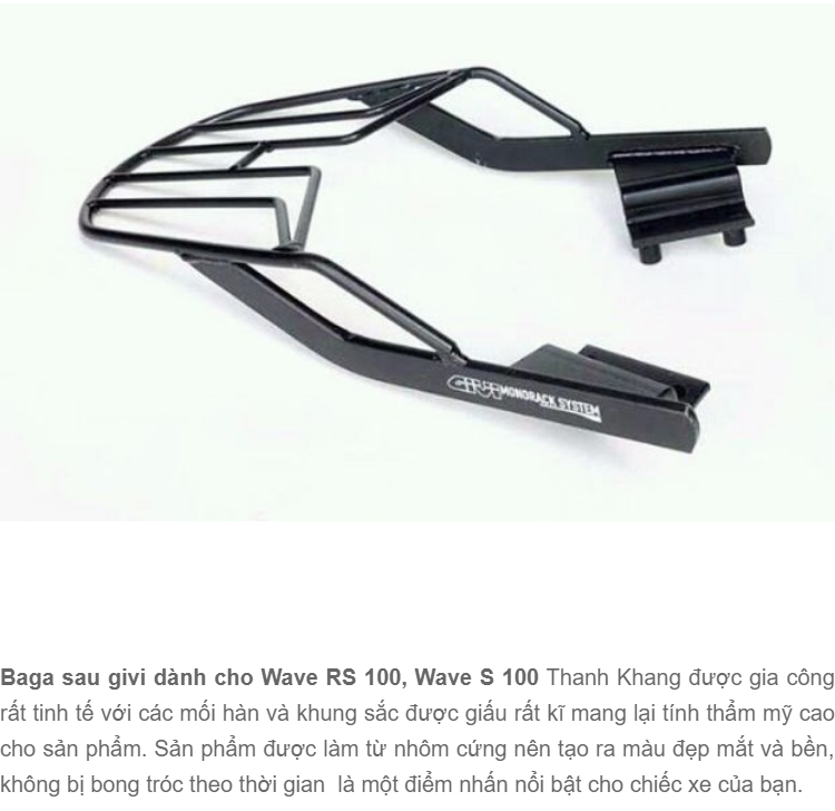 Baga sau givi dành cho Wave RS 100, Wave S 100 Thanh Khang 006000962