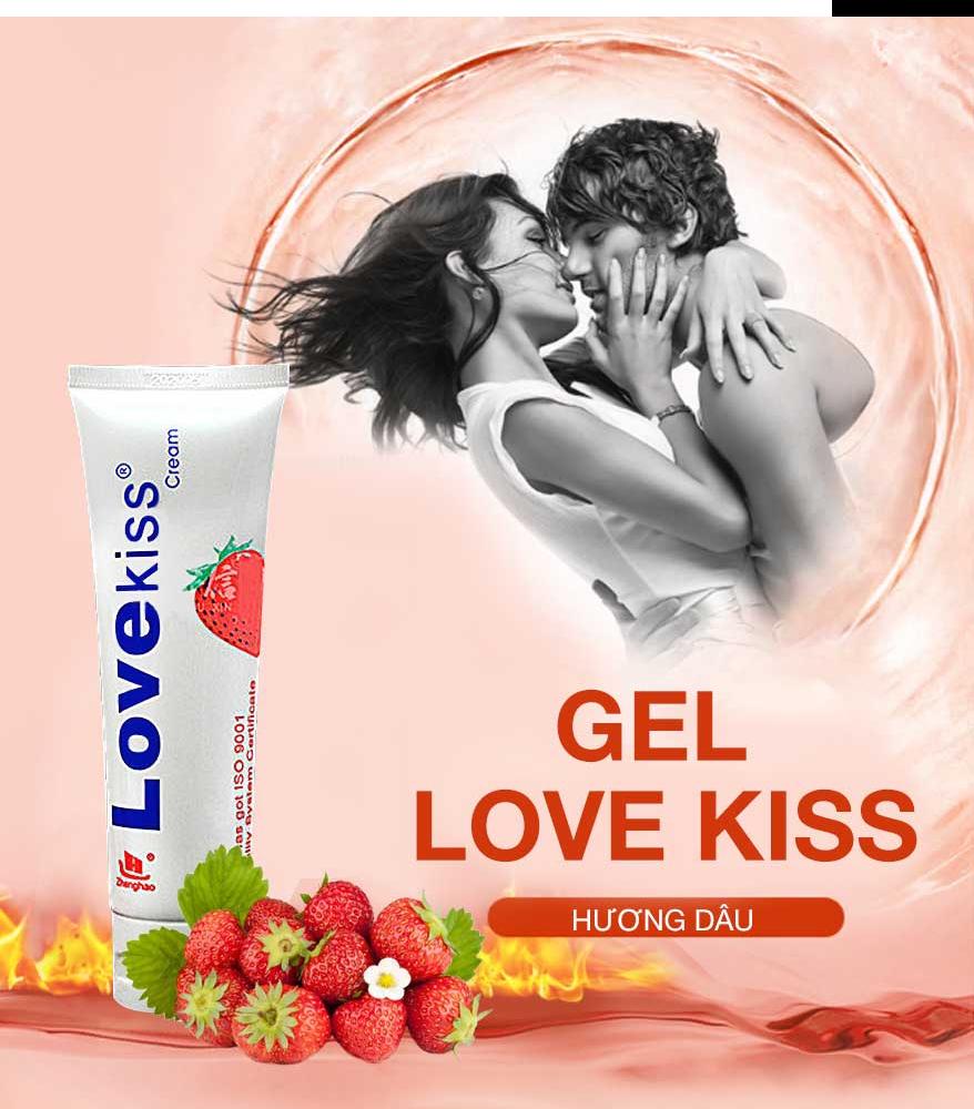 Gel bôi trơn Love Kiss Dâu 100ml