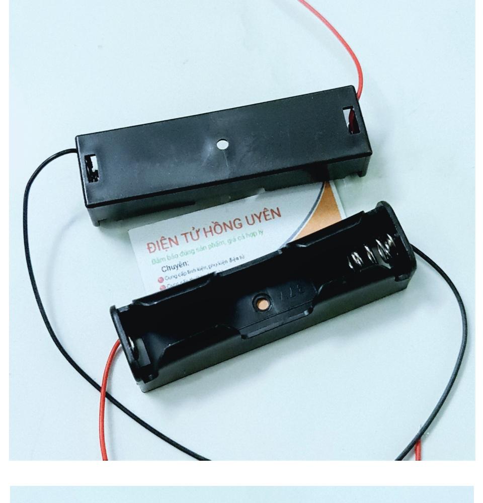 Combo Đế nhựa 1 cell pin 18650 + mạch sạc TP4056 / TC4056A. Linh kiện chế  bộ sạc pin 3.7V - 4.2V cell pin 18650. Sạc bằng sạc điện thoại hoặc sạc