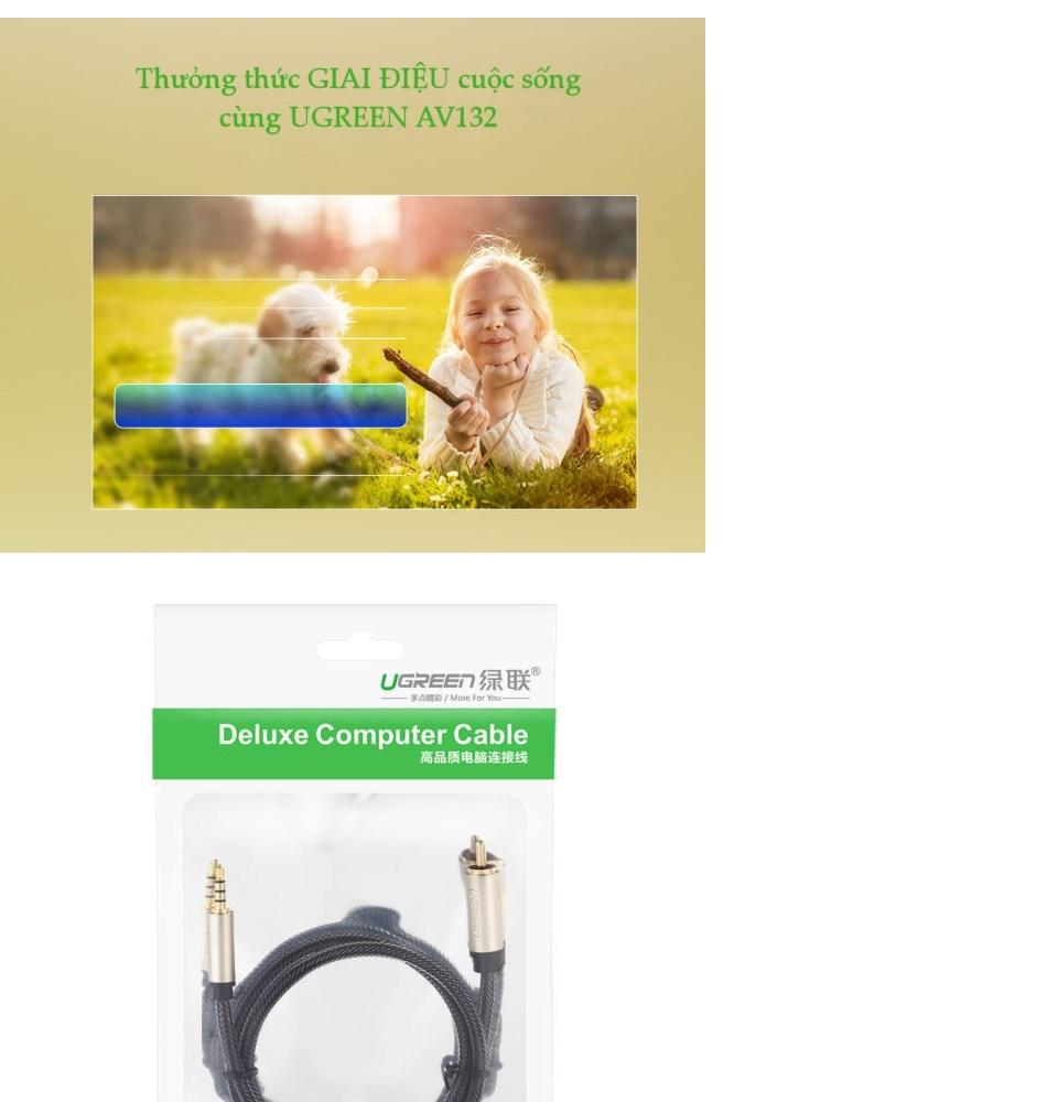 Cáp Audio 3.5mm digital sang RCA Coaxial dài 1-5m UGREEN AV132