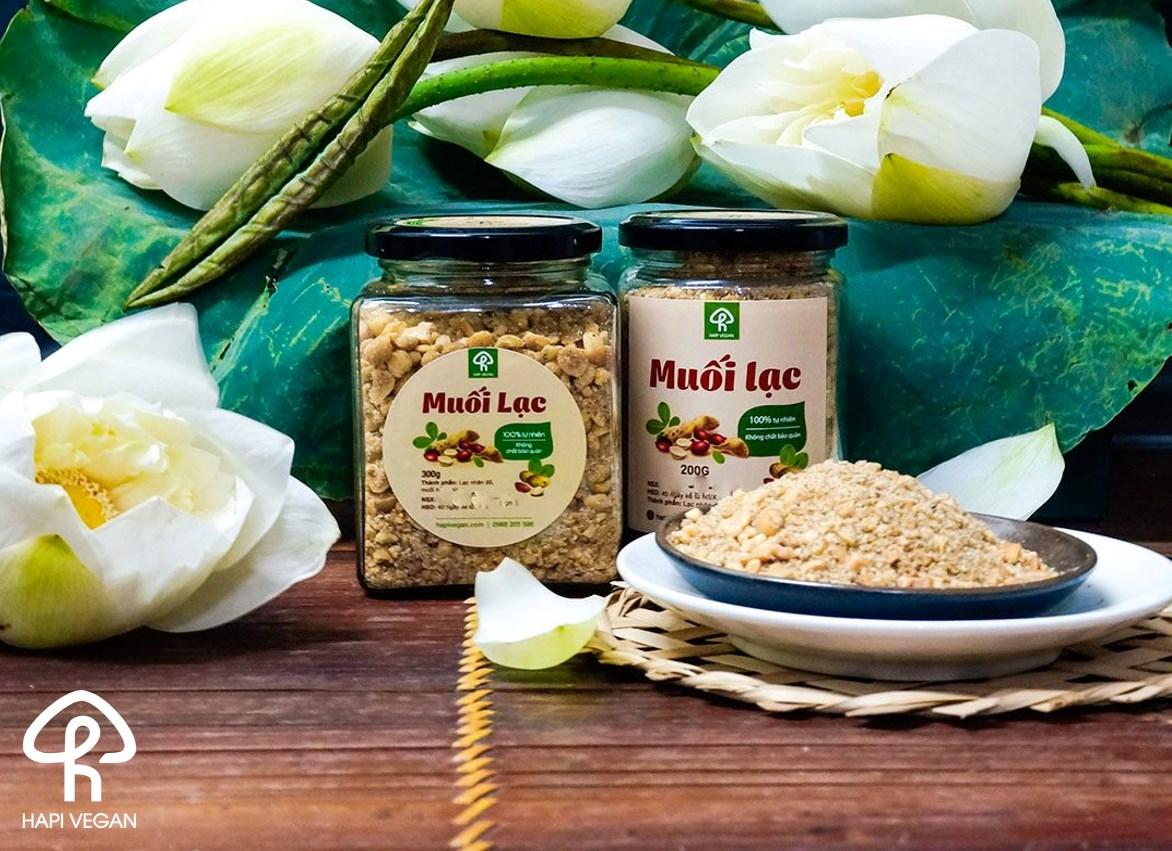 Muối lạc 300gr HAPI Vegan - Ngọt bùi tự nhiên, không mì chính, bảo quản | Lazada.vn