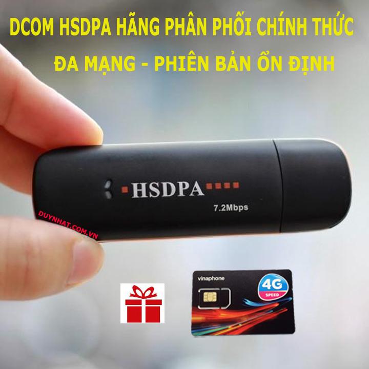 DCOM 3G HSDPA CHÍNH HÃNG DÙNG ĐA MẠNG - USB 3G CHUẨN - PHỦ SÓNG TOÀN QUỐC -  TRUY CẬP MẠNH - BẢN ỔN ĐỊNH - DCOM USB 3G TỐT -