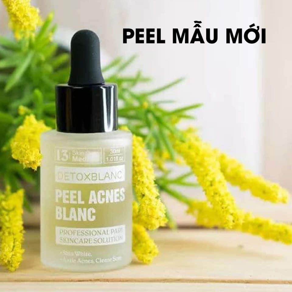Trị Mụn Detox Blanc 30ml - Peel Acnes Blanc - Mẫu mới - Detox Blanc mụn số 13