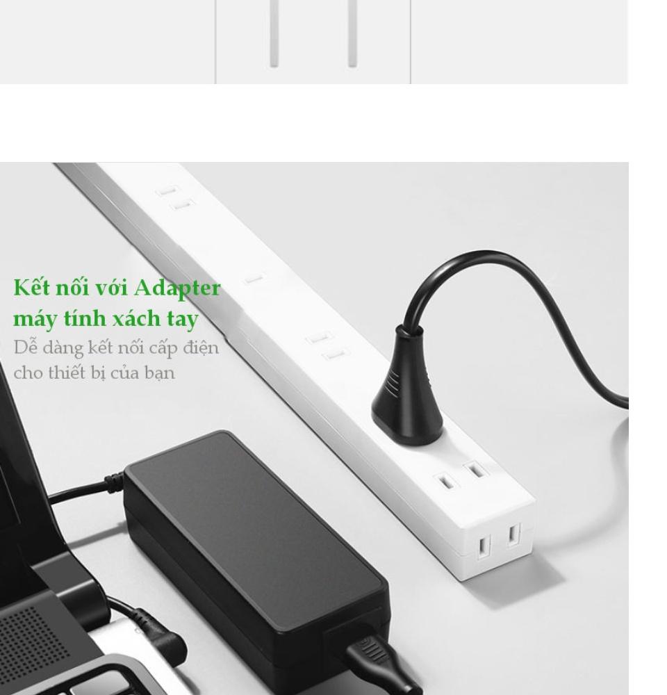 Dây nguồn sạc laptop, đèn, máy in, màn hình LCD, máy ảnh, loa... dài 0.5-1.5m UGREEN CD159