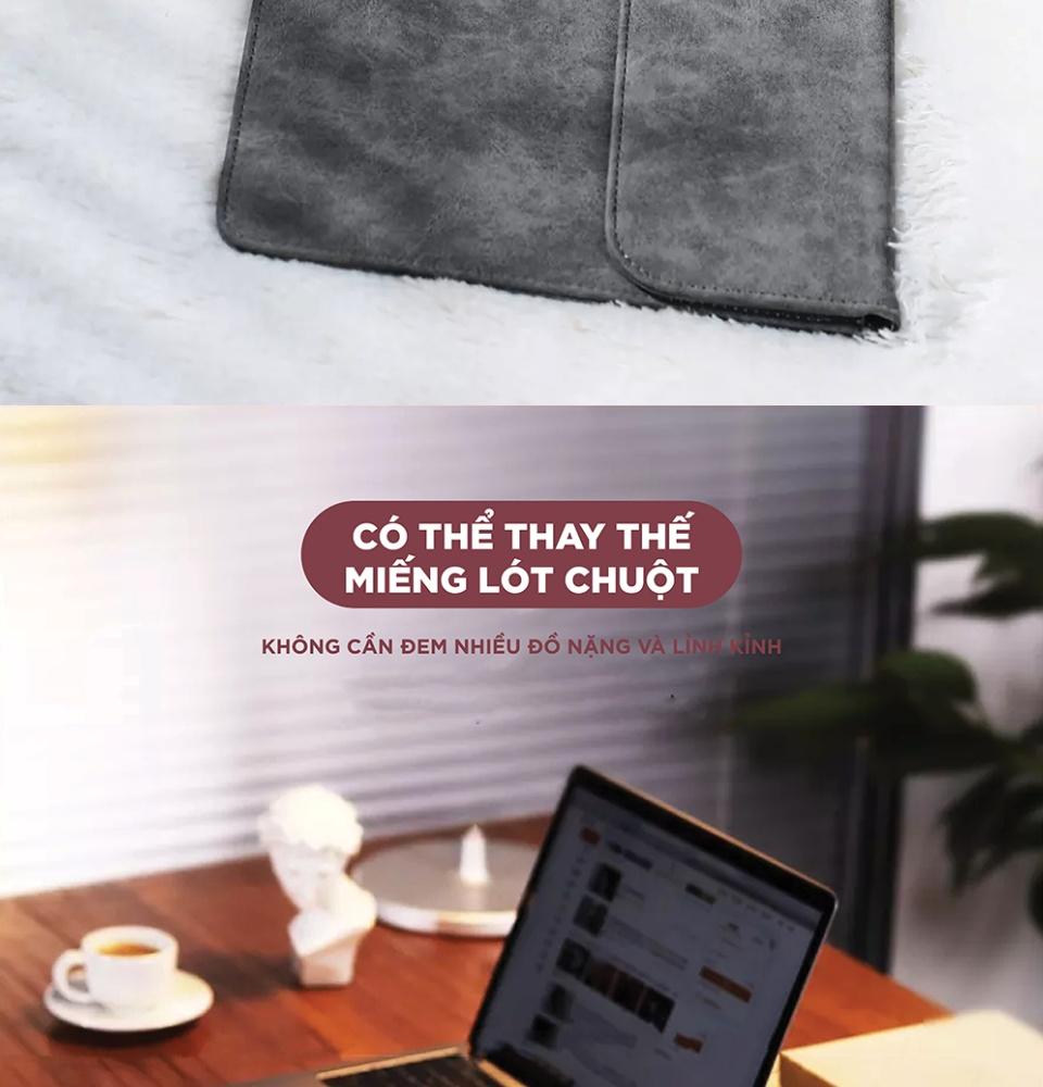 Túi đựng bảo vệ iPad bằng da, lót lông chống sốc, tương thích với iPad, latop có kích thước 9.7 inch, 13.3 inch, 15.4 inch như Macbook Pro 13.3 2016 / 2017 / 2018 / air13 / ipadpro, Xiaomi air 13.3... UGREEN LP187