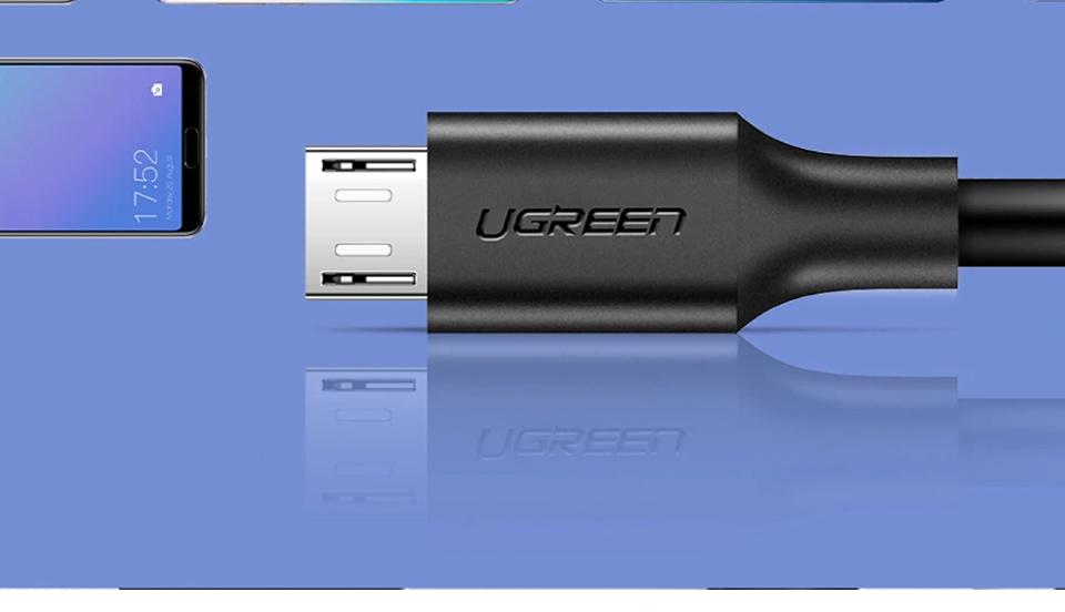 Cáp sạc và truyền dữ liệu USB 2.0 A sang Micro USB hỗ trợ dòng 2.4A, tương thích với Android, Samsung, Xiaomi, HTC, Sony, độ dài từ 0.25m đến 2m UGREEN US289 60827