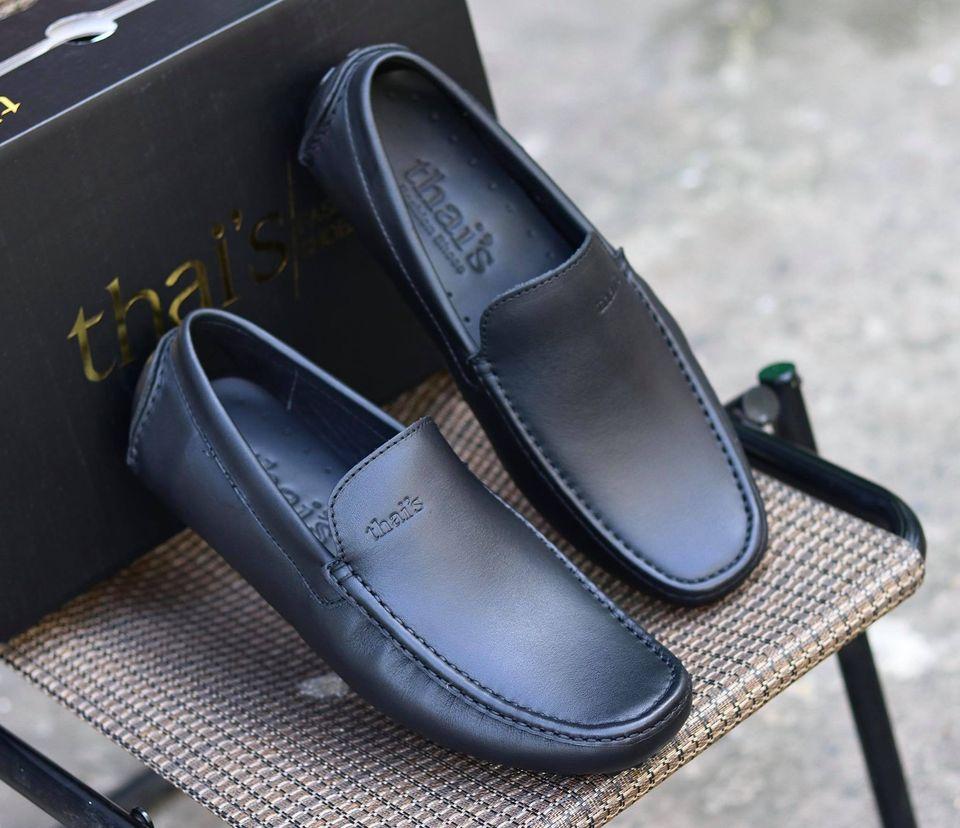 Giày mọi nam da bò thật - Giày mọi Thái Lan - Giày da công sở, giày nam đẹp TH001 (Ảnh 3)