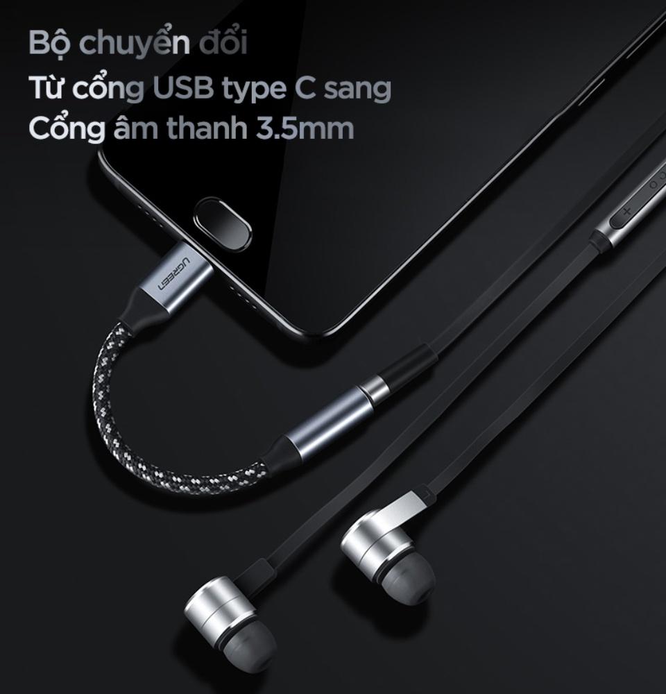 Cáp chuyển đổi từ cổng USB type C sang 3.5mm UGREEN AV142 30632