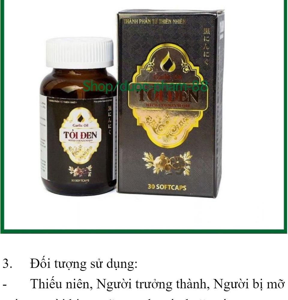 Tăng cường sức đề kháng Tỏi Đen With Coenzym Q10 bổ tim hạ huyết áp hộp 30 viên 3