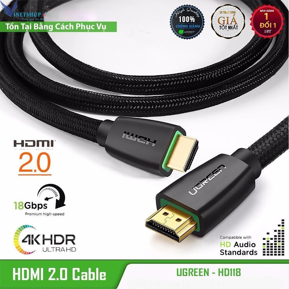 Cap-HDMI-2.0-ho-tro-3D-4K-dai-1.5m-Soi-Ben-Lưoi-Cao-Cap-UGREEN-HD118-40409-1