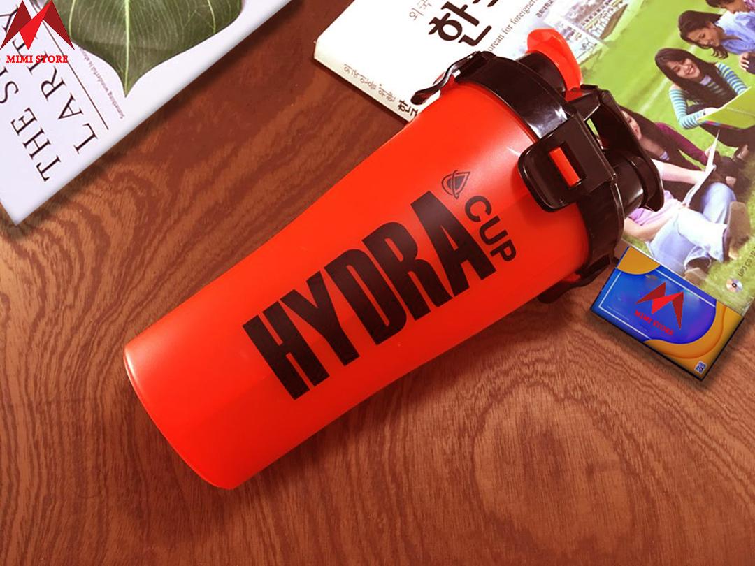 Bình nước tập Gym thể thao hydra - Bình lắc nhiều ngăn cao cấp