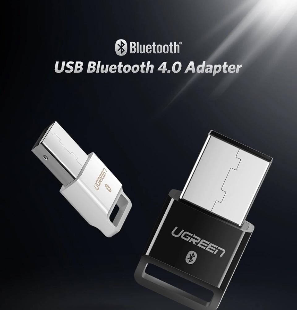USB Bluetooth 4.0 CSR UGREEN US192 - Hỗ trợ aptX dùng cho máy tính để bàn hoặc laptop, phạm vi hoạt động đến 20 mét