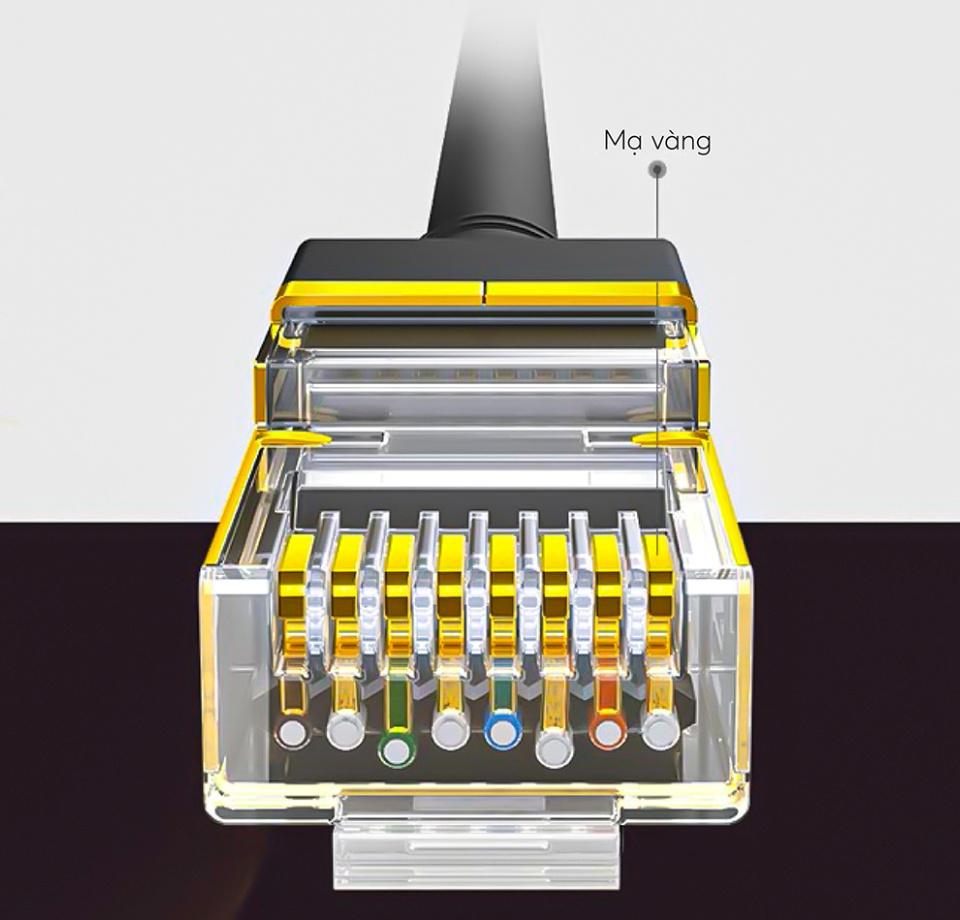 Cáp mạng 2 đầu đúc bọc hợp kim Cat7 STP, dạng dây tròn dài từ 0.5-25M UGREEN NW107