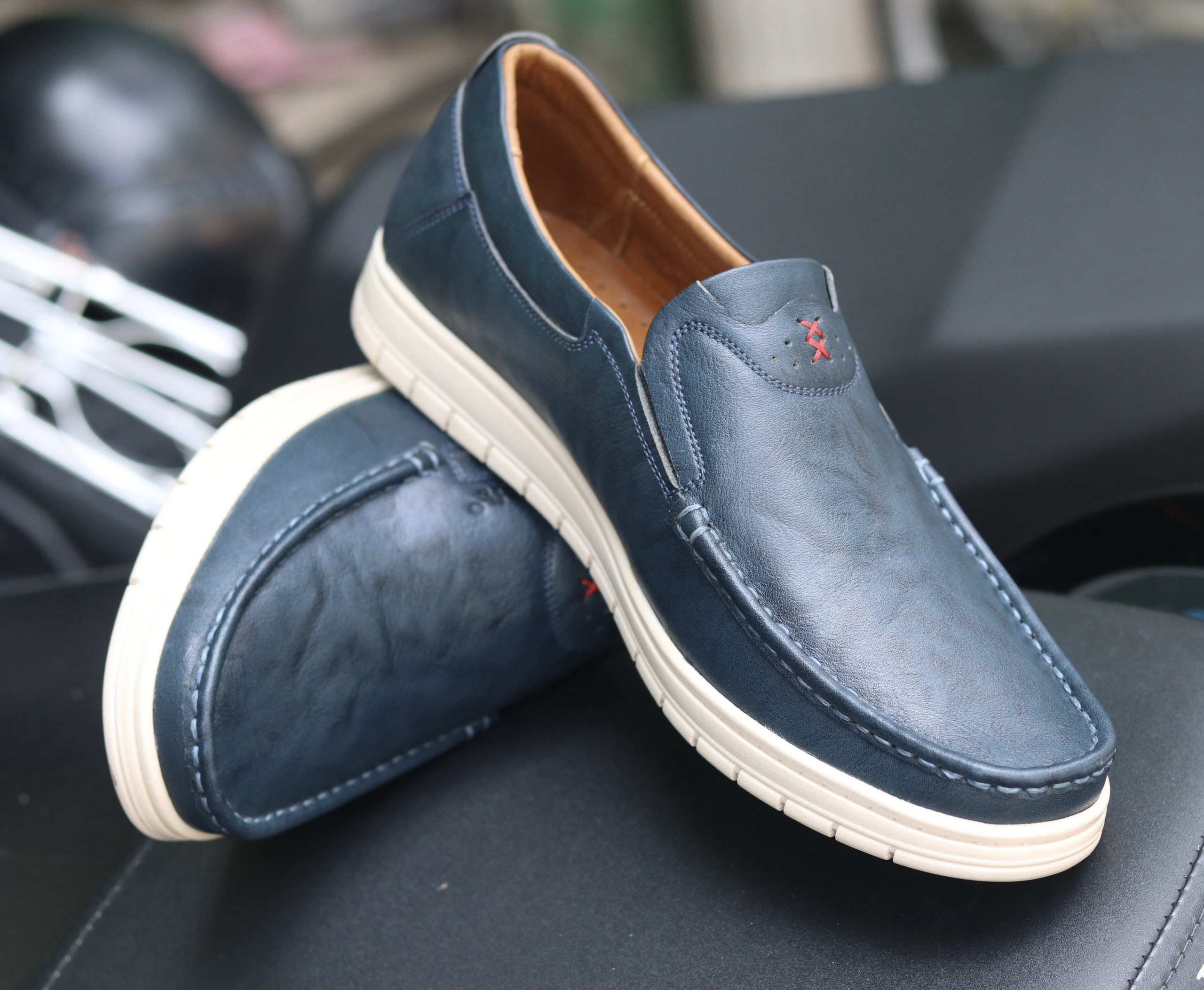 Giày lười da Thái Lan đẹp sang trọng TH04 (Ảnh 2)