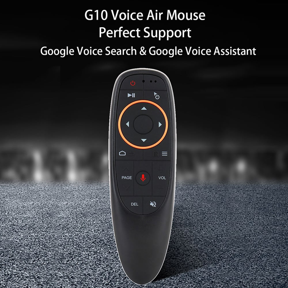 G10 Portable 2.4GHz Wireless Smart Voice Remote for Android TV Box PC Laptop- Black