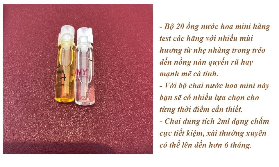 [RẺ VÔ ĐỊCH] - Sét 20 Chai Nước Hoa Mẫu Thử Cao Cấp Nước Hoa nước hoa mini - Mẫu Thử Nước Hoa - Mẫu Thử Nước Hoa Mini - Nước Hoa Nữ - Làm Đẹp - nhiều hương quyến rủ - nhỏ gọn tiện dụng - lưu hương dài lâu 5