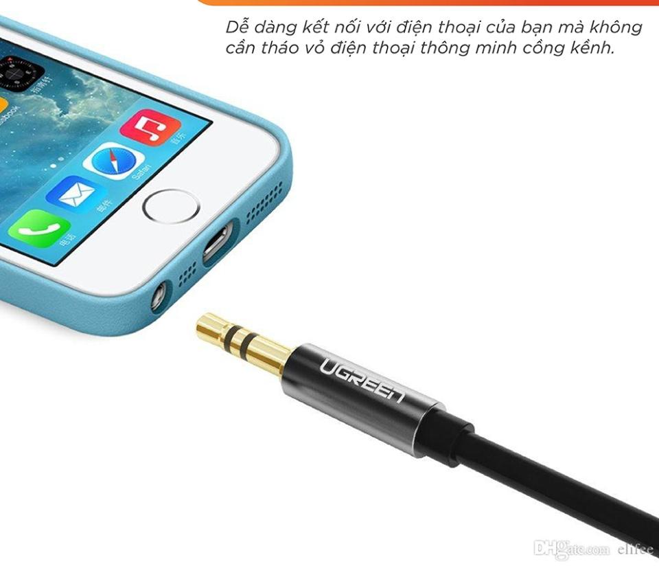 Dây cáp Audio 3.5mm đực chia 2 cổng 3.5mm cái (2 tai nghe) dài 20cm UGREEN AV123- Hãng phân phối chính thức