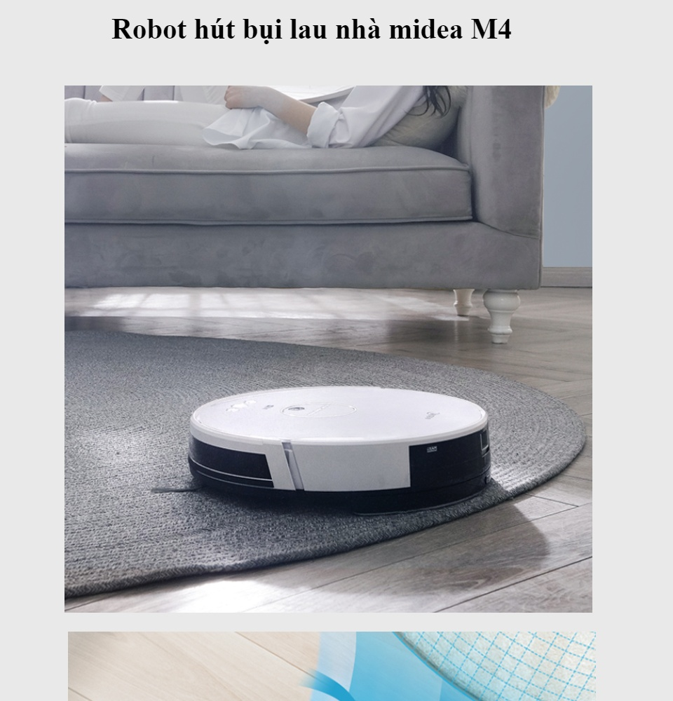 Siêu HOT ] Robot hút bụi lau nhà midea M4