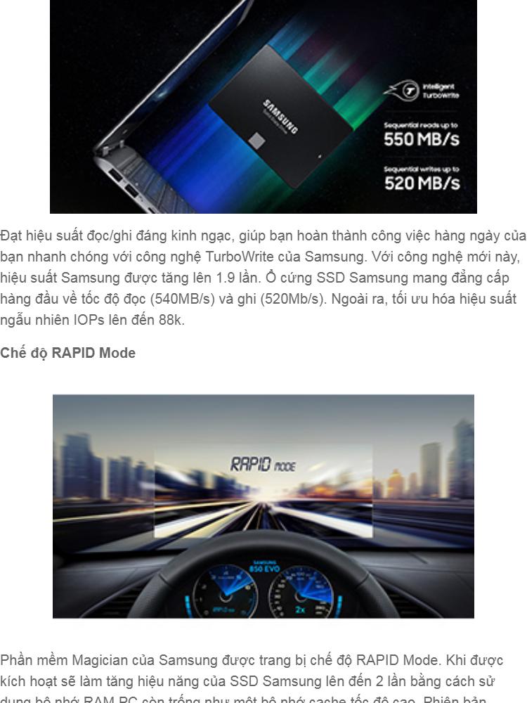 Ổ cứng SSD Samsung 500GB 860 Evo SATA III 2 5 inch (new version) LD1
