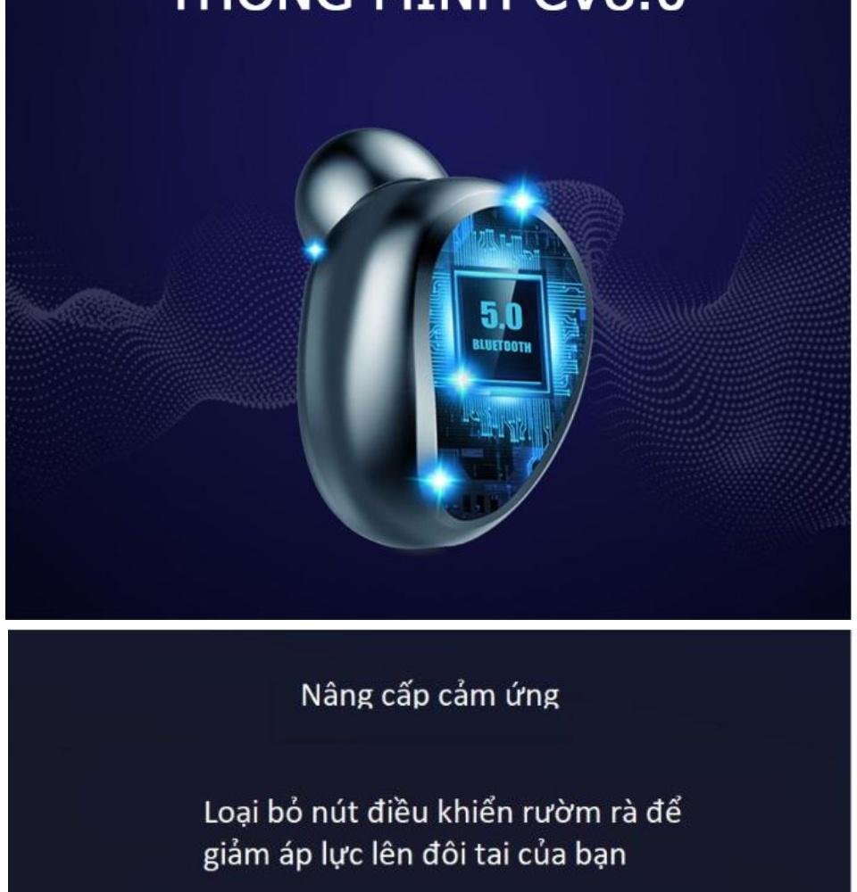 Tai Nghe Bluetooth Amoi F9 Bản Pro Quốc Tế Chip 5.0 , Chống Nước , Nút Cảm Ứng - Tai Nghe Bluetooth Amoi F9, Tai Nghe Bluetooth Nhét Tai Cho mọi dòng máy - Tai nghe buetooth không dây 4
