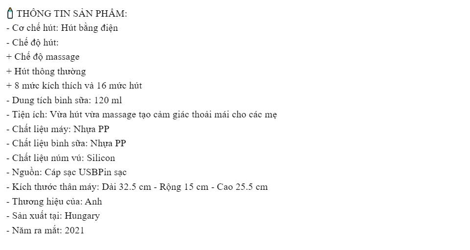 Máy Hút Sữa Điện Đôi Philips Avent Eureka SCF393/11:4973