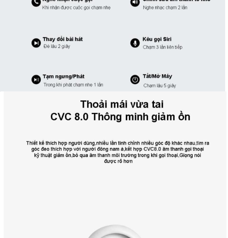 Tai Nghe Bluetooth Thế Hệ 12 5.0 TWS Nút Cảm Ứng Pin Trâu Có Cửa Sổ Kết Nối, Micro Đàm Thoại 2 Bên - Tai Nghe Không Dây Nhét Tai - Tai Nghe Bluetooth Mini - tai nghe bluetooth nhét tai 4