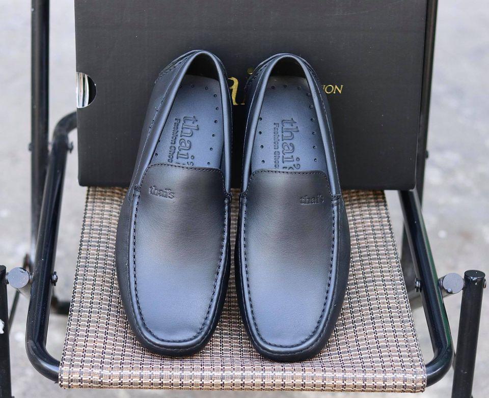 Giày mọi nam da bò thật - Giày mọi Thái Lan - Giày da công sở, giày nam đẹp TH001 (Ảnh 6)
