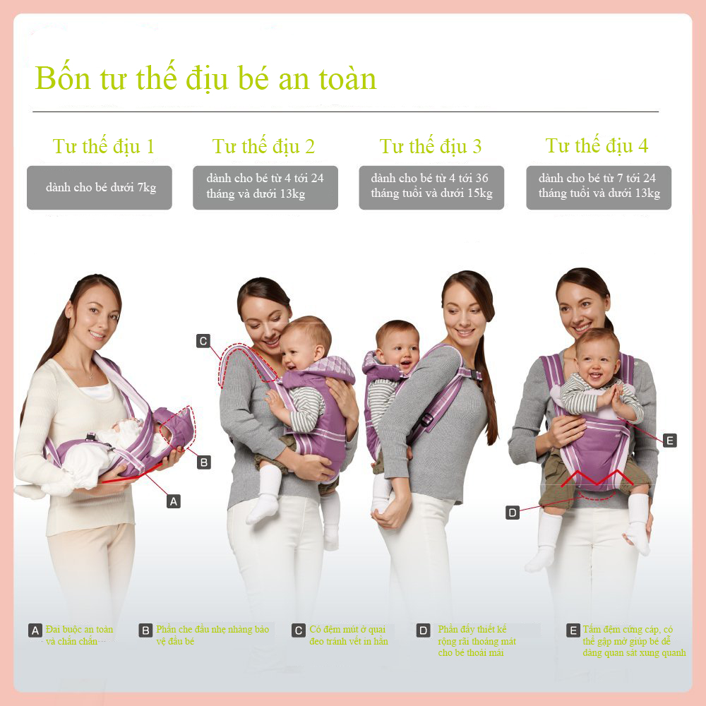 Địu trẻ em Aprica Pitta Beige 39401 (Màu be):4088