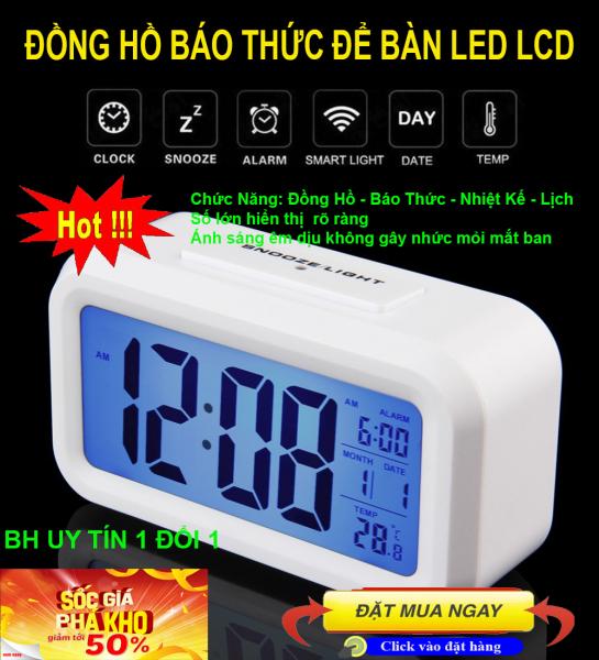Dong ho bao thuc thong minh , Đồng hồ báo thức thông minh - CHỌN NGAY Đồng hồ để bàn LCD Led HD51 HL1010 Đa chức năng, Thiết kế tinh xảo loại Cao cấp; MẪU UB- 111, Giảm sốc NGAY TRONG HÔM NAY 50%, Bảo hành uy tín 1 đổi 1 Sp bán chạy