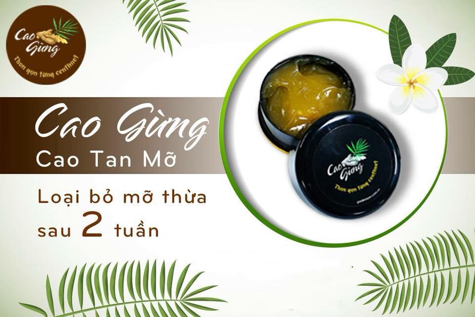 CAO GỪNG Tan Mỡ Thiên Nhiên Việt 200g [Chính Hãng] - Thon Gọn Từng Centimet!