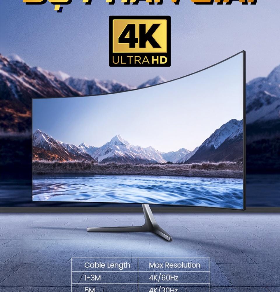 Cáp chuyển đổi HDMI sang DVI-D 24+1, dây tròn và dây dẹt, dài 1-15M UGREEN HD106