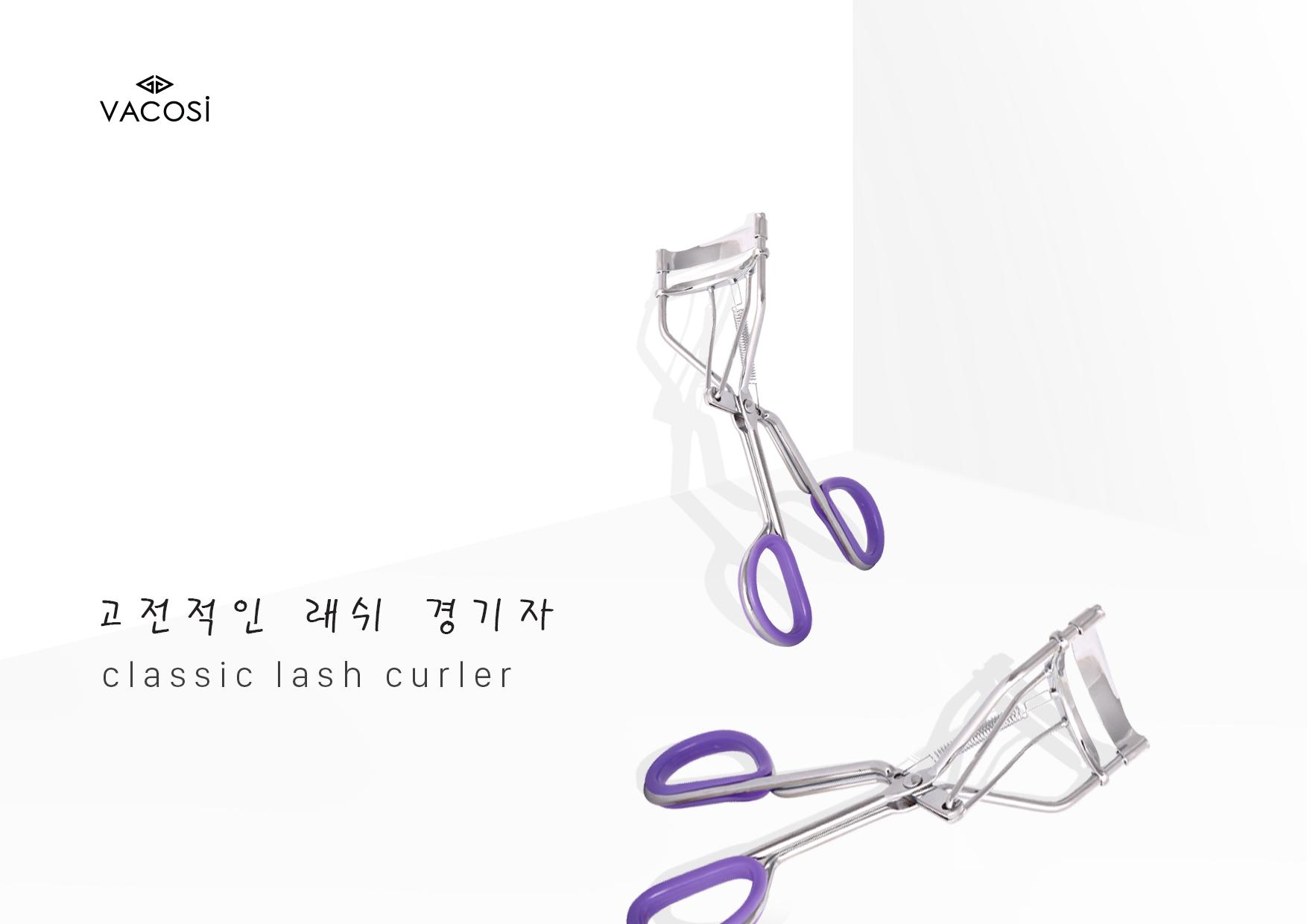 Kết quả hình ảnh cho Bấm Mi Lò Xo Vacosi Classic Lash Curler BM01