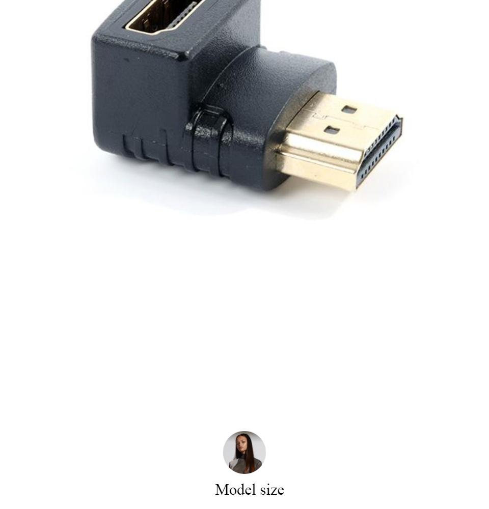 Đầu nối HDMI Đầu nối HDMI 90 đọ L Connect Adapter (Đen) Đầu nối HDMI đổi góc chữ L âm dương Hdmi Connect Adapter 3