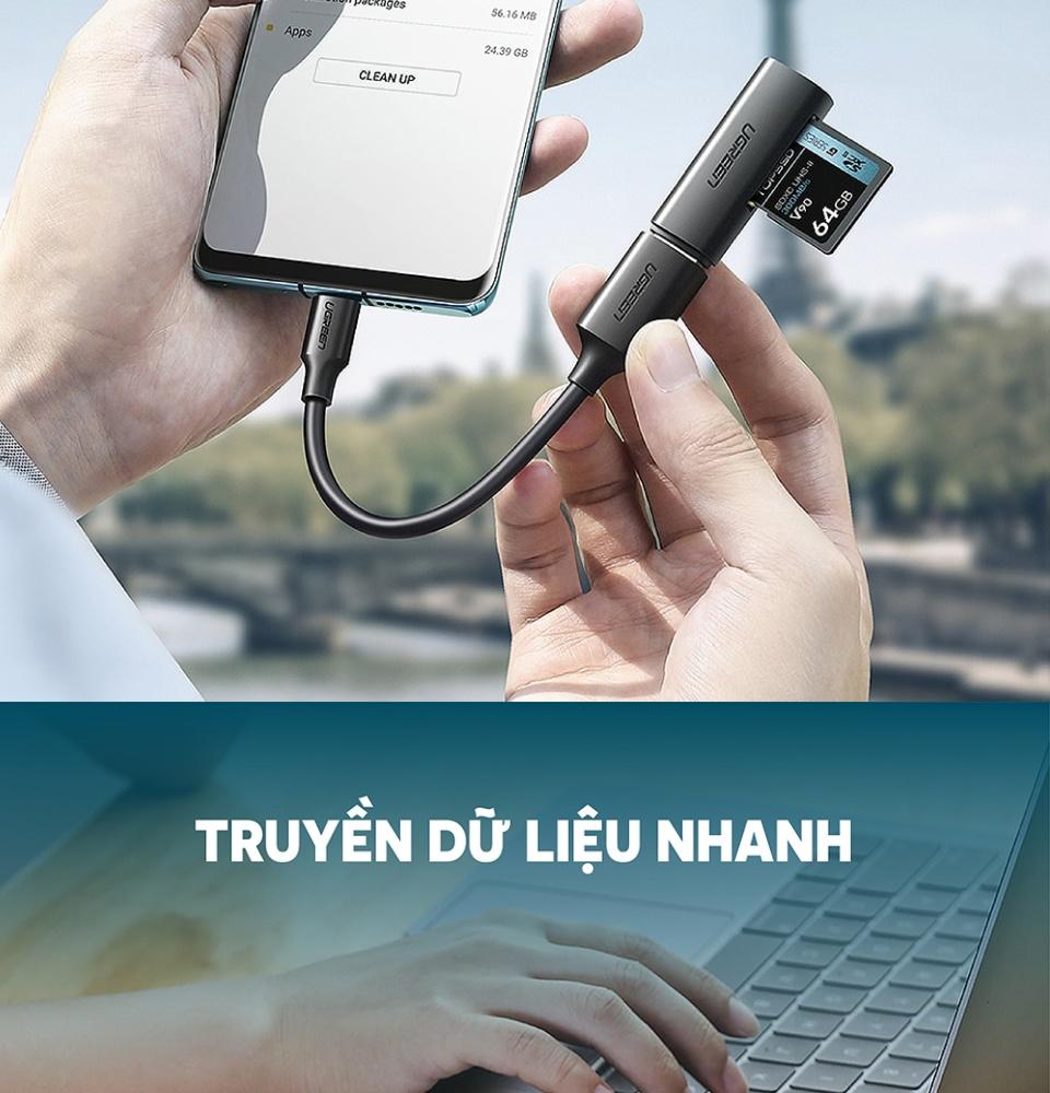Dây cáp OTG USB 3.0 sang USB-C dài 15CM UGREEN US203