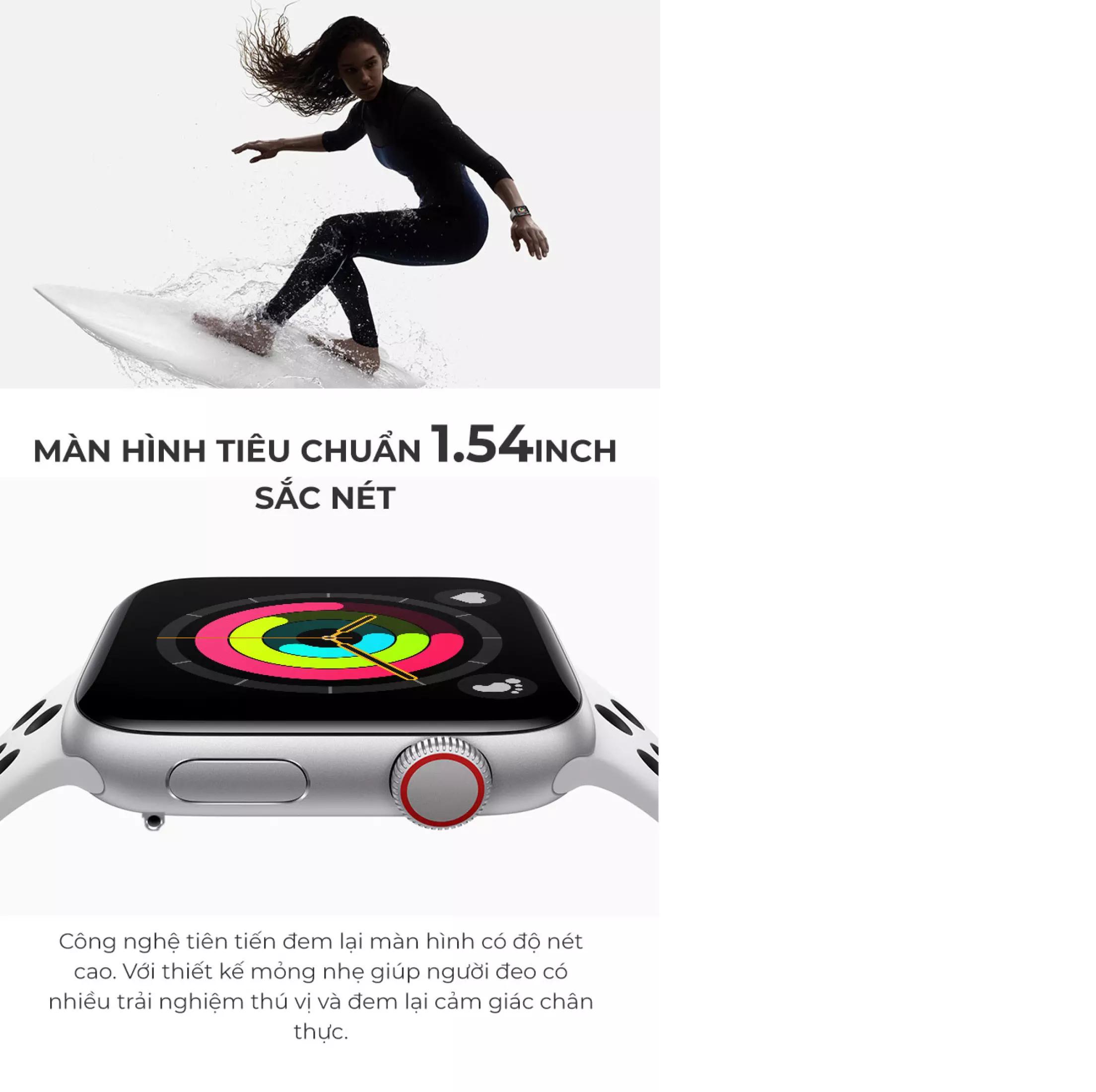 ĐỒNG HỒ THÔNG MINH T500 SMART WATCH SERIES 5 - Thay được hình nền -Thiết kế  thời