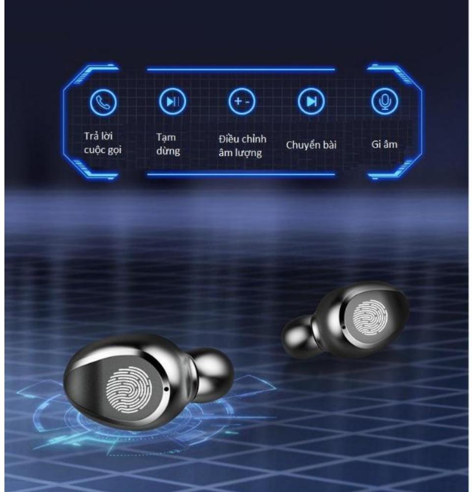 Tai Nghe Bluetooth Amoi F9 Bản Pro Quốc Tế Chip 5.0 , Chống Nước , Nút Cảm Ứng - Tai Nghe Bluetooth Amoi F9, Tai Nghe Bluetooth Nhét Tai Cho mọi dòng máy - Tai nghe buetooth không dây 5